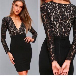 🌵Lulu's Black Lace Dress